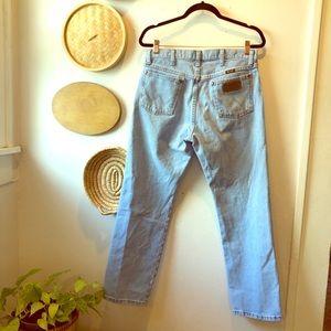 Vintage light wash high waisted Wrangler jeans